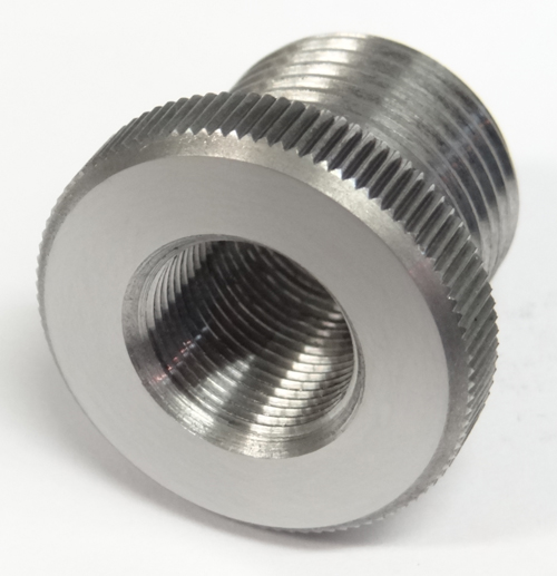 Solvent Trap Oil Filter Adapter 1/2-36 x 3/4-16 Stainless Steel