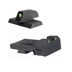 "BoMar BMCS 1911 Champion Sight Set - Night Sights with Beveled Tritium Blade - Tritium 0.190"" Front Sights"