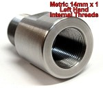 M14x1LH ID to 5/8-24 OD Threaded Adapter