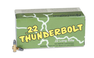 Remington Thunderbolt TB-22B .22lr Ammunition