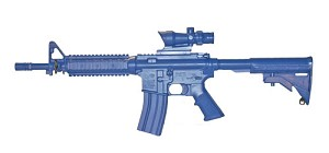M4 COMMANDO Flat Top Open Stock, Fwd Rail, ACOG Sight