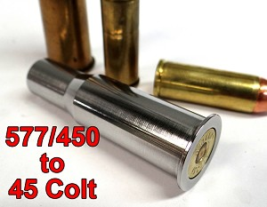 577/450 Martin Henry to 45 Colt Caliber Adapter - Chamber Reducer - Stainless