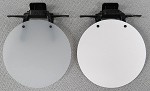 Eye Patch - WHITE Opaque or WHITE Solid or BLACK Solid - Clip On / Adjustable