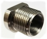 TBA M14x1.0LH to 13/16-16 Threaded Oil Filter Adapter - Stainless Steel